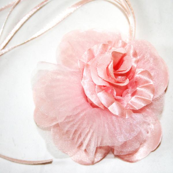 Peach flower corsage-1