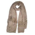 Soft crochet lace hijab shawl:Beige