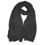 Soft crochet lace hijab shawl:Black