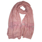 Soft crochet lace hijab shawl:Dusky Pink