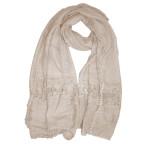 Soft crochet lace hijab shawl:ivory