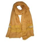 Soft crochet lace hijab shawl:mustard