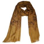 mustard choco lace paisley print hijab