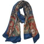 oriental blush hijab Blue