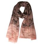 dusky pink choco lace paisley print hijab
