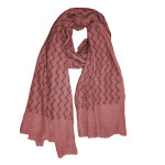 Zig zag viscose cotton hijab: dusky pink
