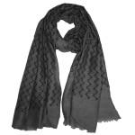 Zig zag viscose cotton hijab: charcoal