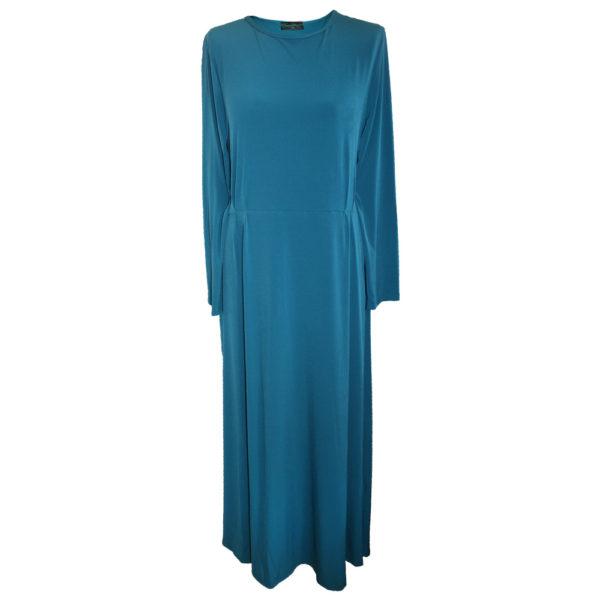 Sky blue jersey jilbab