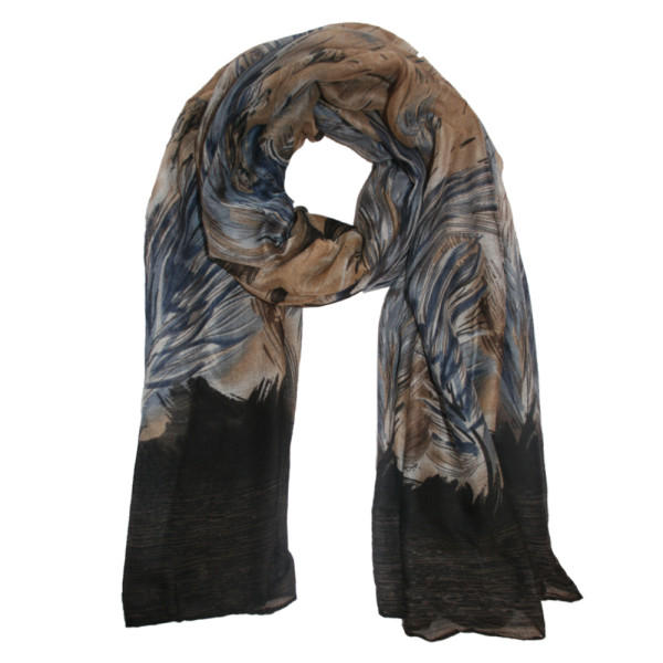 feather-print-black-beige-blue