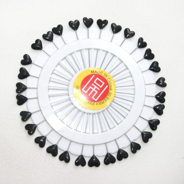 black heart pins