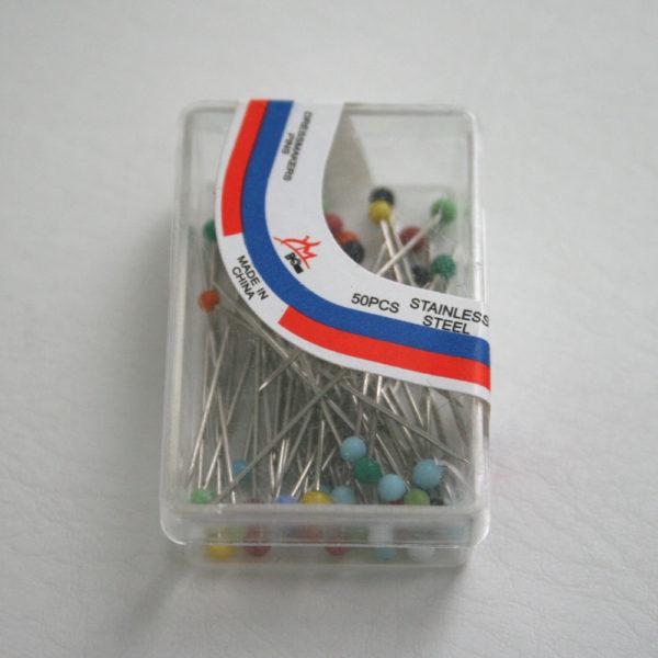 small multi coloured pins box